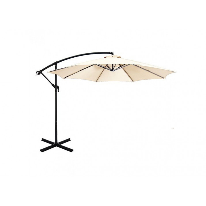 UV védelemmel ellátott törtfehér színű függő napernyő 2,7 m