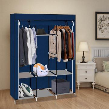 Praktikus ruhásszekrény - mobil gardrób 130x45x170 cm-es méretben, kék