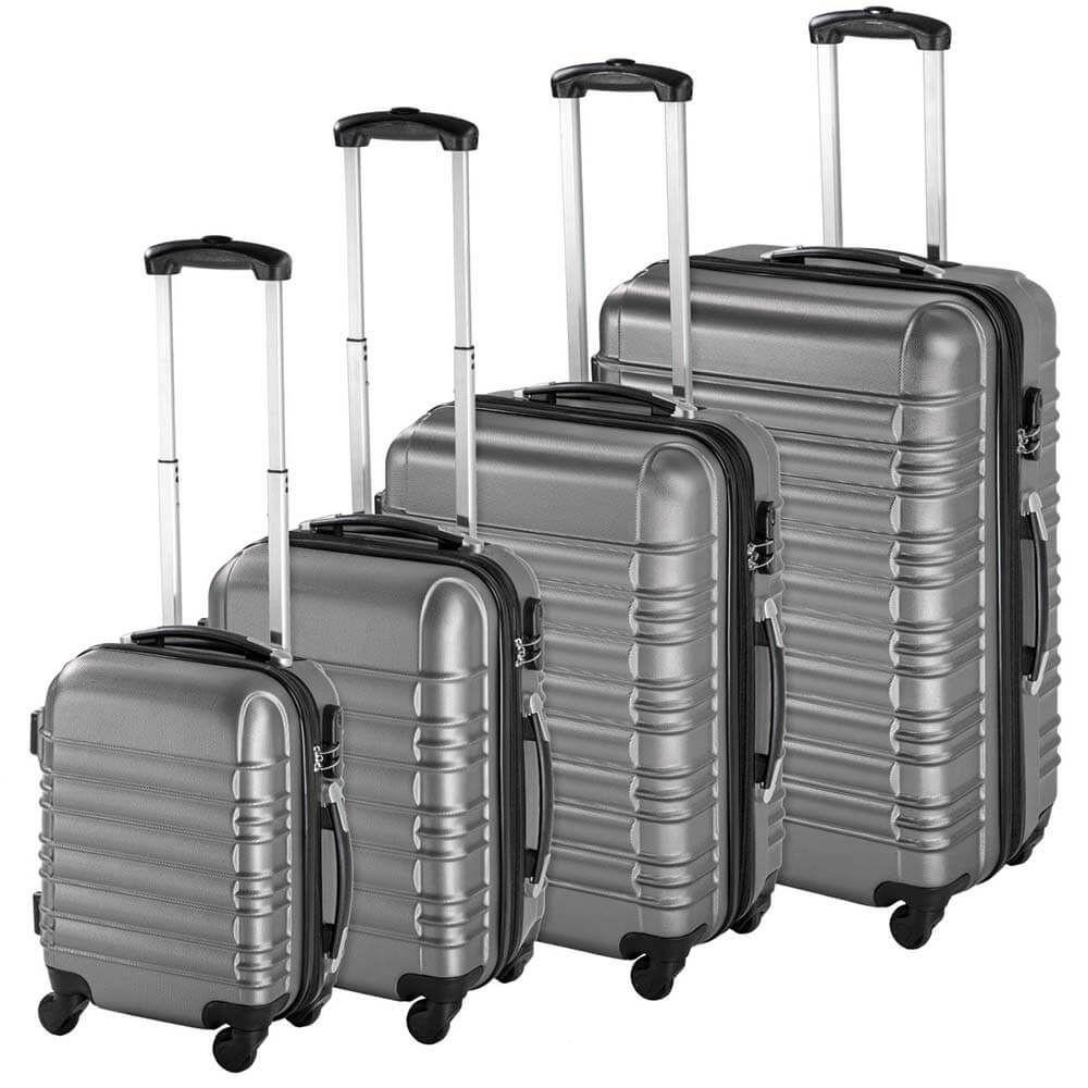 4 db-os merev falú bőrönd szett, Szürke színben - Ingyenes szállítás