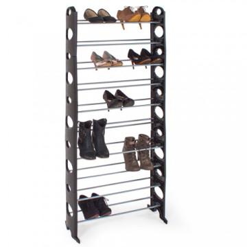 10 soros cipőtartó - fekete