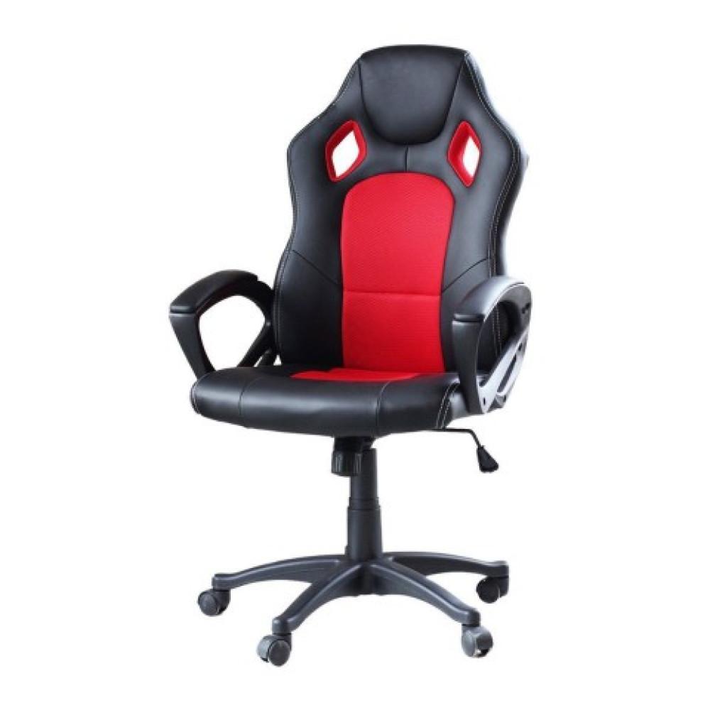 Párnázott maximális kényelemet nyújtó gamer szék - piros - Ingyenes szállítás