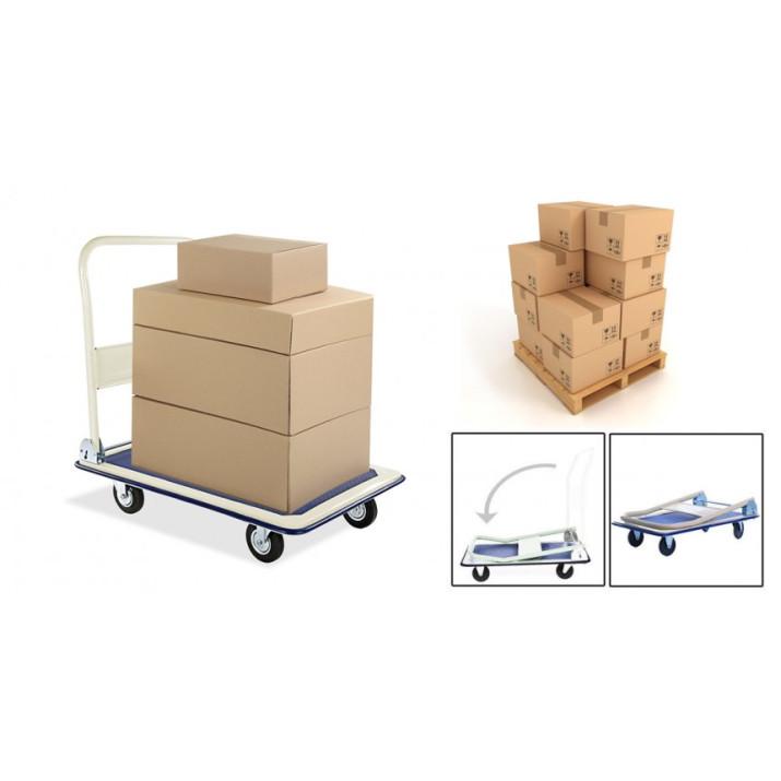 Pakoláshoz, költözéshez - Masszív terhelhető fém kézikocsi! - 150kg teherbírás