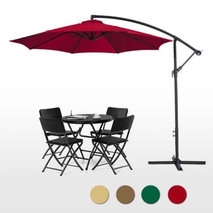 UV védelemmel ellátott piros színű függő napernyő 2,7 m