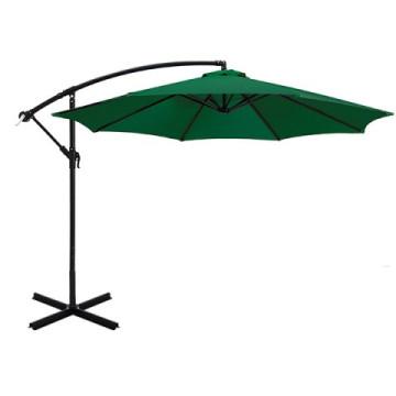 UV védelemmel ellátott zöld színű függő napernyő 2,7 m