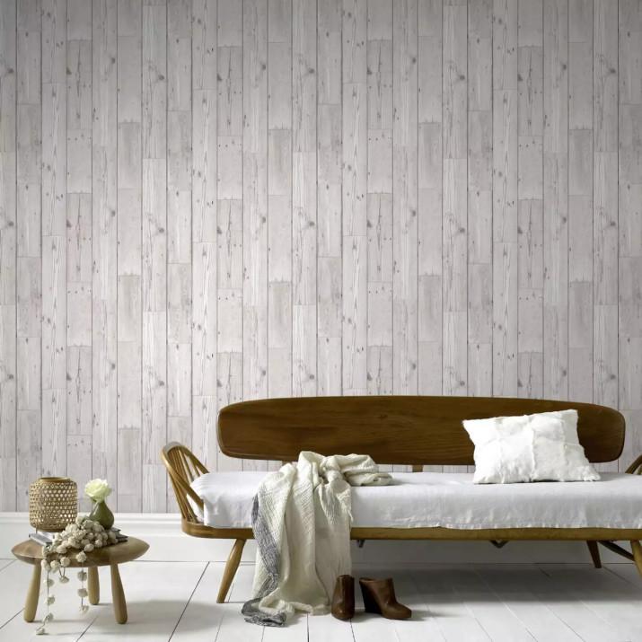 Öntapadós 3D deszka hatású dekor falmatrica, tapéta elegáns szürke fenyő mintával 70x70x0,6 cm