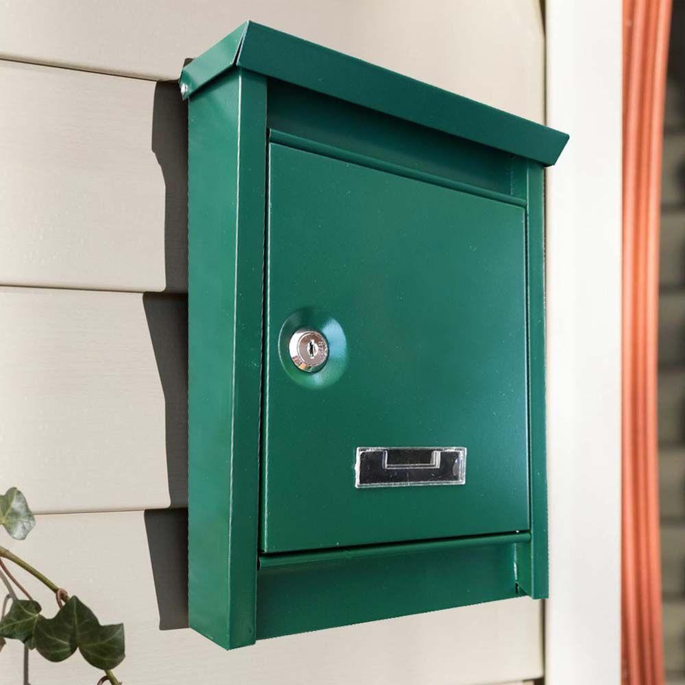 Fém postaláda, zöld