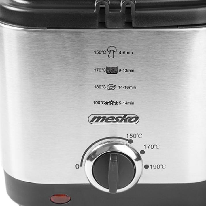 Mesko MS 4910 inox olajsütő 1,5 L - 900W